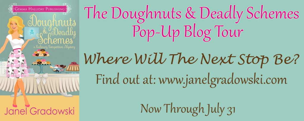 The Doughnuts & Deadly Schemes Pop-Up Blog Tour