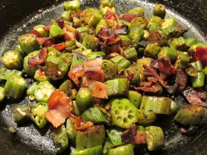 Fried #Okra #Bacon #Chefsalad #Beetsalad #Healthy #Lifestyle #Lowcarb